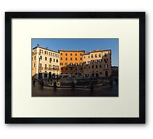 Rome's Fabulous Fountains - Fountain of Neptune, Piazza Navona, Rome, Italy Framed Print