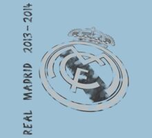 Real Madrid 2013-2914 Retro Grayscale by refreshdesign