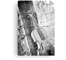 Violin Rural Canvas Print