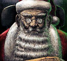 Santa Checking His List by Derek Stewart