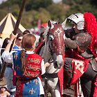 Preparing for jousting by Christopher Cullen