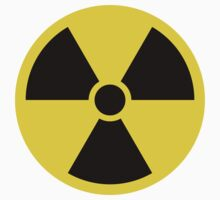 Nuclear radiation symbol stickers by Mhea