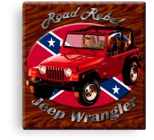 Jeep Wrangler Road Rebel Canvas Print