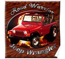 Jeep Wrangler Road Warrior Poster