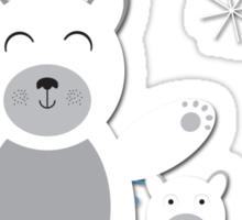 christmas polar bear Sticker