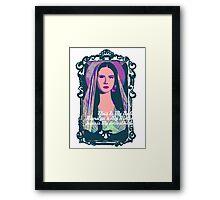 Lana Del Rey - Body Electric Tropico Framed Print