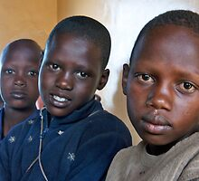 Brown Eyed Masai Boys by phil decocco
