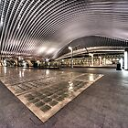 Liege station by Night  by Rob Hawkins