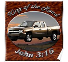 Chevy Silverado Truck King Of The Road Poster