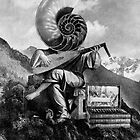 Mountainside Lute Player. by - nawroski -