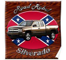 Chevy Silverado Truck Road Rebel Poster