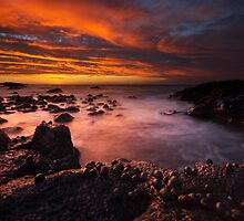 Small Bay at sunset by Kenji Ashman