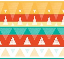 Vibrant textured triangles stripes pattern by oksancia