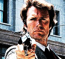Clint eastwood- Dirty harry by American Artist