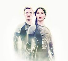 Peeta Mellark and Katniss Everdeen by sandraree