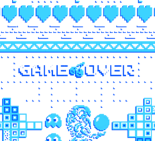 Game Over - 8-bit Ugly Christmas Sweater Sticker