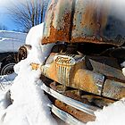 Ford Pickup Truck in the snow by Edward Fielding
