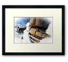 Ford Pickup Truck in the snow Framed Print