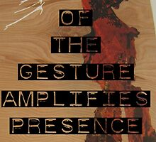 The Reductive Quality of the Gesture Amplifies Presence in Critical Dialogue by Addison Herndon