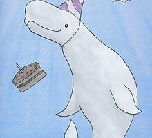 Birthday Beluga by Ollie Bright