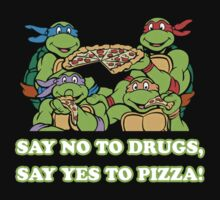 Teenage Mutant Ninja Turtles Say No To Drugs, Say Yes To Pizza! by Stu Barnes