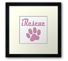 iRescue - animal cruelty, vegan, activist, abuse Framed Print