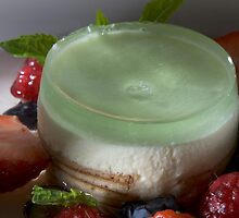 Woodruff tartlet with lime sorbet h by Stefan Bau