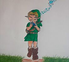 Link with Ocarina by ArexTheCat
