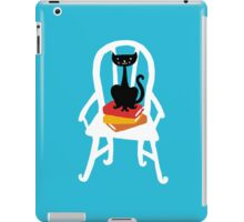 Still life with cat, chair, and book iPad Case/Skin