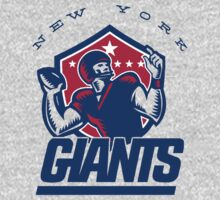 New York Giants Retro Shirt by fleshandbone