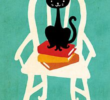 Still life with cat, chair, and book by Budi Satria Kwan