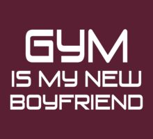 Gym Is My New Boyfriend (white ink) Workout Tee. Crossfit Tee. Exercise Tee. Weightlifting Tee. Running Tee. Fitness by Max Effort
