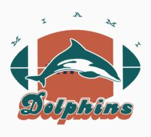 Miami Dolphins Retro Shirt by fleshandbone