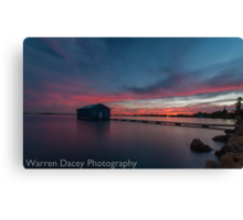 crawley bay sunset  Canvas Print