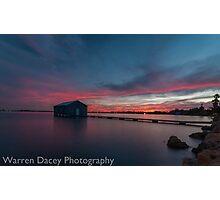 crawley bay sunset  Photographic Print