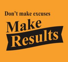 Don't Make Excuses, Make Results (black ink) Workout Tee. Crossfit Tee. Exercise Tee. Weightlifting Tee. Running Tee. Fitness by Max Effort