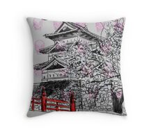 temple (stamp) Throw Pillow
