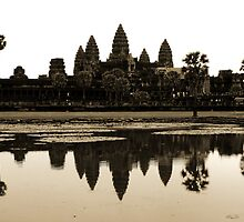Angkor Wat at dawn by Paige