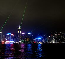 Lights in Hong Kong Harbour by Paige