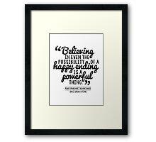 Happy Ending - Mary Margaret Framed Print