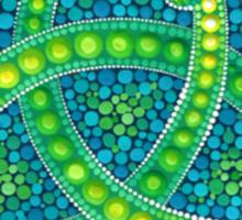 Green Ouroboros Celtic Snake Sticker