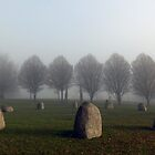 Millennium Stone Circle in the Fog by John Gaffen
