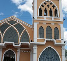 Church Steeple in Ibarra by rhamm