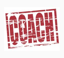 Coach red rubber stamp effect by stuwdamdorp