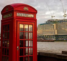Red Telephone Booth by PatiDesigns