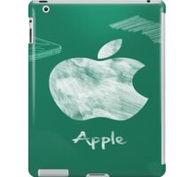 Apple logo white green iPad Case/Skin