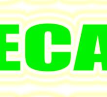 """""""BUTTER PECAN RICAN"""" Sticker"""