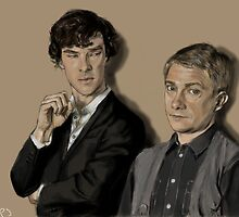 Sherlock and John by WillTPJ