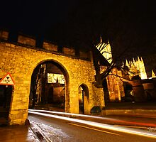 Priory Gate & Lincoln Cathedral at Night by Jonathan Cox