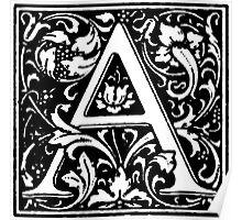 William Morris Renaissance Style Cloister Alphabet Letter A Poster